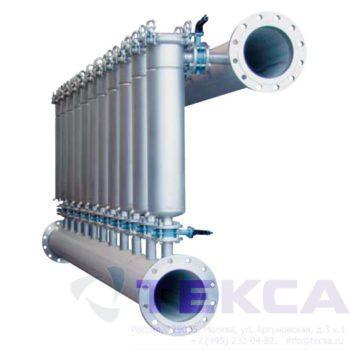 Многоэлементные корпуса мешочных фильтров серии MODULINE