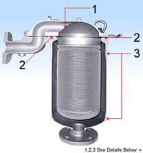 корпус мешочного фильтра TOPLINE схема