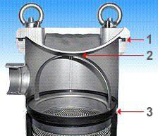 Моноэлементный корпус мешочного фильтра серии FLOWLINE - Схема