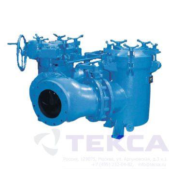 Трубопроводный сетчатый фильтр — стрейнер серии Duplex — модель 52LS