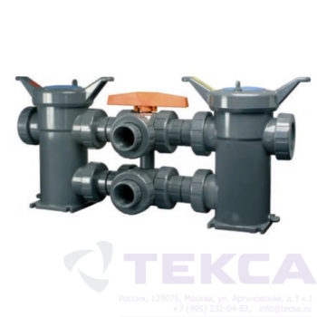 Трубопроводный сетчатый фильтр — стрейнер серии Duplex — модель All — Plastic