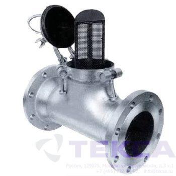 Трубопроводный сетчатый фильтр — стрейнер серии Simplex — модель 91