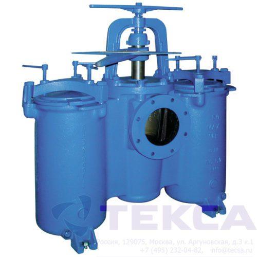 Трубопроводные сетчатые фильтры DUPLEX модель 50