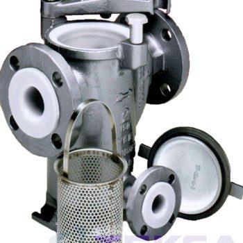 Трубопроводный сетчатый фильтр — стрейнер серии Simplex — модель 72L